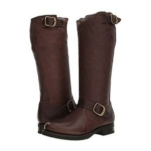 🔥Frye distressed Veronica slouch moto style boots